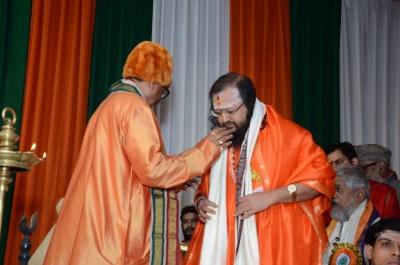 PhD and Mahamahopadhyay Award to Dr Pavitranandaji on 7 March in New Delhi (1).jpg
