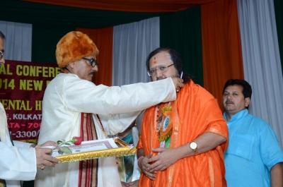 PhD and Mahamahopadhyay Award to Dr Pavitranandaji on 7 March in New Delhi (5).jpg