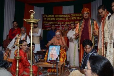 PhD and Mahamahopadhyay Award to Dr Pavitranandaji on 7 March in New Delhi (16).jpg
