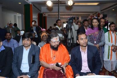 PhD and Mahamahopadhyay Award to Dr Pavitranandaji on 7 March in New Delhi (21).jpg