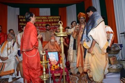 PhD and Mahamahopadhyay Award to Dr Pavitranandaji on 7 March in New Delhi (23).jpg