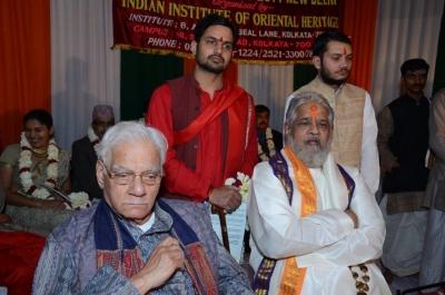 PhD and Mahamahopadhyay Award to Dr Pavitranandaji on 7 March in New Delhi (28).jpg