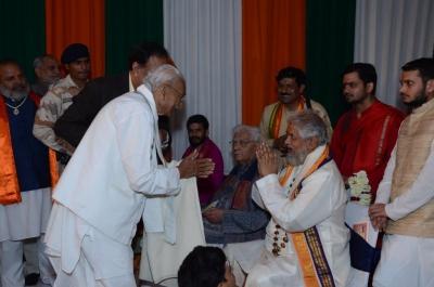 PhD and Mahamahopadhyay Award to Dr Pavitranandaji on 7 March in New Delhi (32).jpg