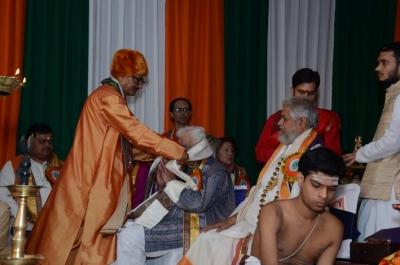 PhD and Mahamahopadhyay Award to Dr Pavitranandaji on 7 March in New Delhi (37).jpg
